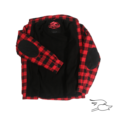 CHAQUETA POWELL PERALTA FLANNEL BLACK-RED CHECK
