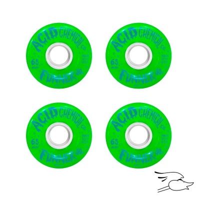 RUEDAS ACID BUBBLES DOUBLE RADIUS 65MM GREEN