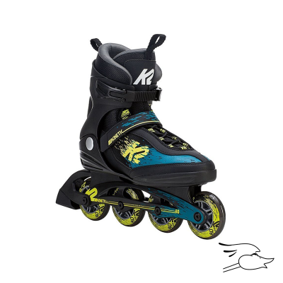 PATINES K2 KINETIC 80 BLACK-GREEN-YELLOW