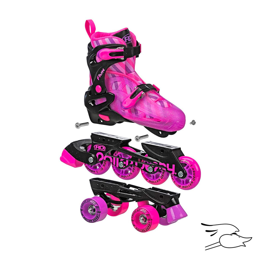PATINES ROLLER DERBY FLUX BLACK-PURPLE 2 EN 1