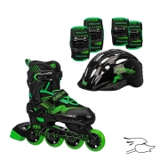 COMBO ROLLER DERBY CARVER BLACK-GREEN