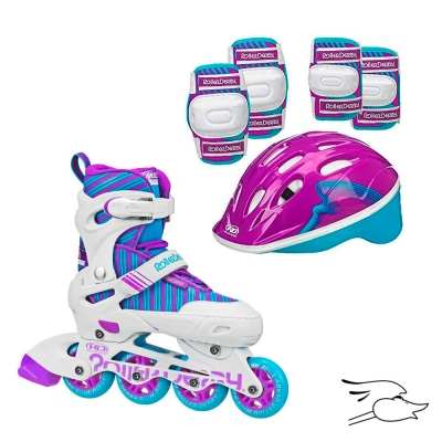 COMBO ROLLER DERBY CARVER WHITE-PURPLE