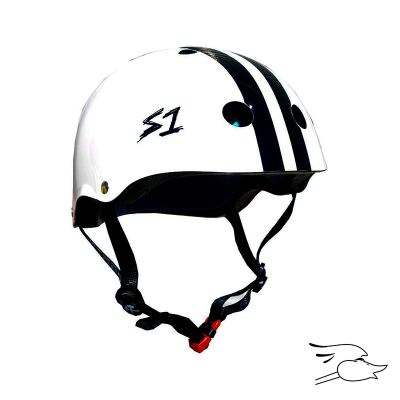 CASCO S-ONE MINI LIFER WHITE-BLACK STRIPE