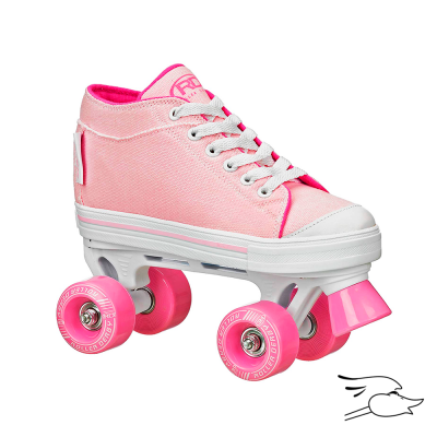 PATINES ROLLER DERBY ROLLER ZINGER GIRLS PINK-WHITE