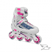 PATINES ROCES JOKEY GIRL WHITE-PINK-YELLOW