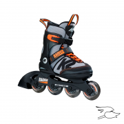 PATINES K2 RAIDER BLACK-ORANGE