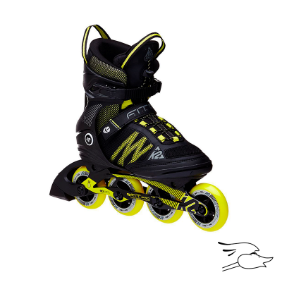 PATINES K2 F.I.T. 84 BLACK-YELLOW