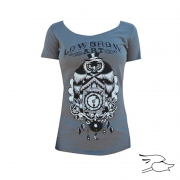 CAMISETA LOWBROW WOMENS OWL CLOCK ...