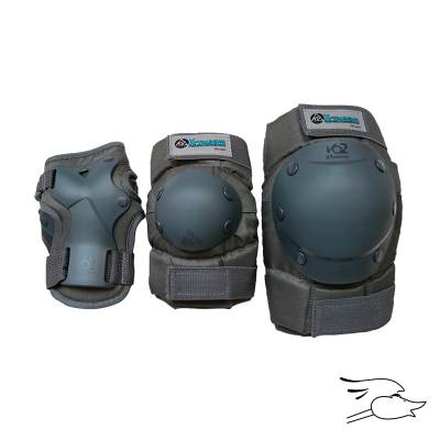 PROTECCION K2 XT PREMIUM WOMENS  PAD SET GRAY