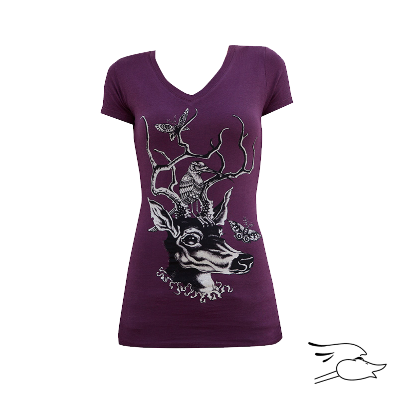 CAMISETA LOWBROW WOMENS OH DEAR V-NECK