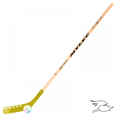"COMBO MYLEC ECLIPSE JET FLO 48"" STICK/BOLA YELLOW"