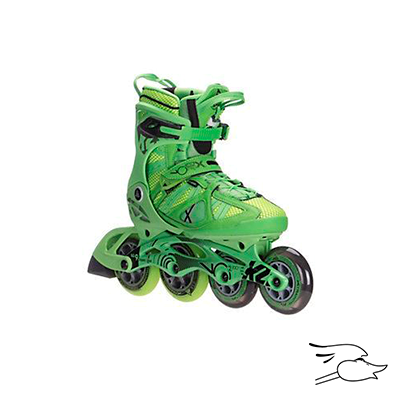 PATINES K2 VO2 100 X PRO GREEN-YELLOW