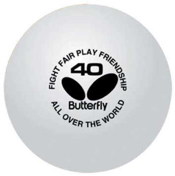 BOLAS BUTTERFLY PING PONG TRAINING 40MM WHITE