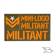CALCOMANIA MILITANT ORANGE/GREEN FONT
