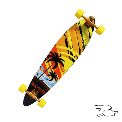 LONGBOARD PARADISE SUNSET SKETCH PINTAIL (MONOPATIN)