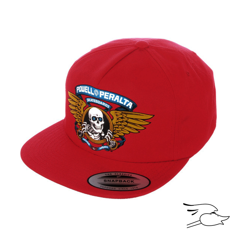 GORRA POWELL PERALTA SNAPBACK WINGED RIPPER RED