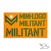CALCOMANIA MILITANT GREEN/ORANGE FONT