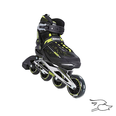 PATINES ROCES XENON BLACK-ACID GREEN