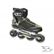 PATINES ROCES ARGON BLACK-ACID GREEN
