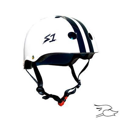 CASCO S-ONE LIFER WHITE-BLACK STRIPES