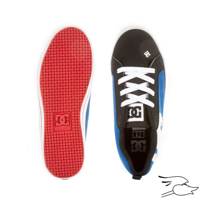 TENNIS DC COURT GRAFFIK VULC BLACK-WHITE-ROYAL