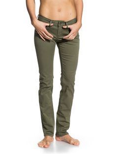 JEAN ROXY SKINNY FLOOD GREEN
