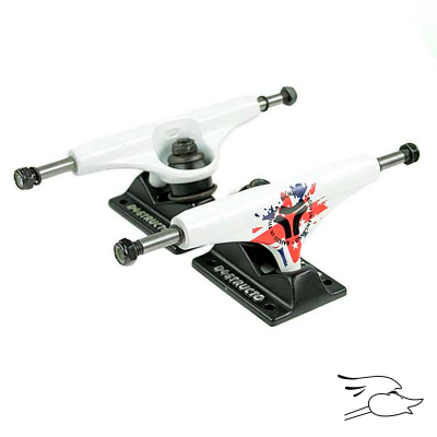 TRUCKS DESTRUCTO D1 HERITAGE WHITE-BLACK MID 5.0