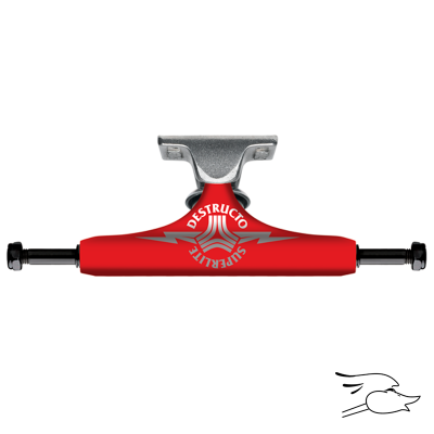 TRUCKS DESTRUCTO D1 SUPERLITE RED-RAW MID 5.0