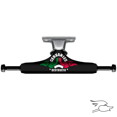 TRUCKS DESTRUCTO D1 CERVANTES LOCOS BLACK-RAW MID 5.0