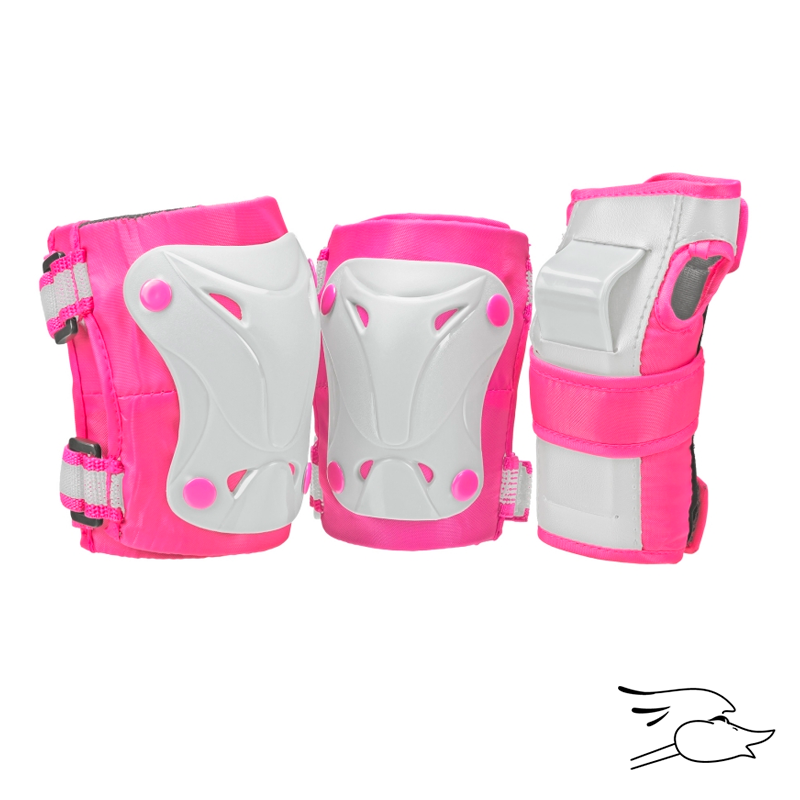 PROTECCION ROLLER DERBY CRUISER 3000 GIRLS PINK-WHITE