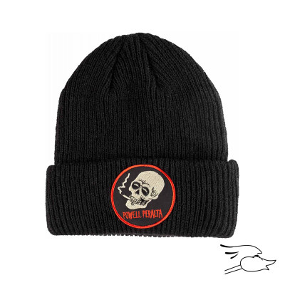 BEANIE POWELL PERALTA SMOKING SKULL BLACK