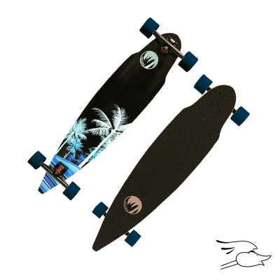 LONGBOARD PARADISE WAVE PALMS PINTAIL (MONOPATIN)