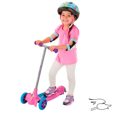SCOOTER RAZOR KIXI SCRIBBLE PINK / PURPLE